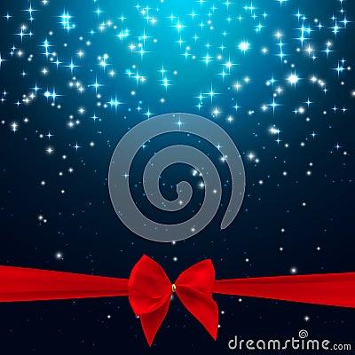 Free Star Shiny Sky With Ribbon And Bow Vector Illustration Backgroun Royalty Free Stock Photos - 80274198