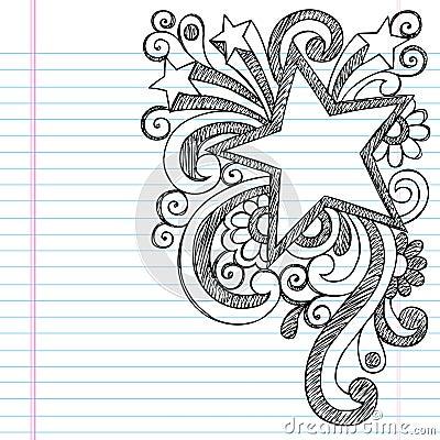 Star Sketchy Doodle Picture Frame Vector Design