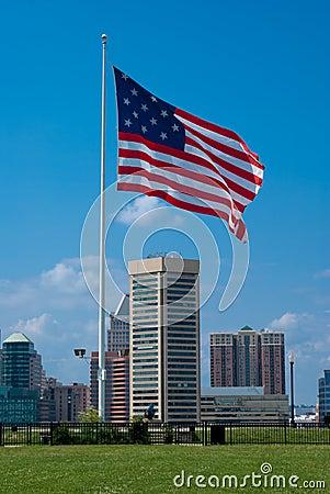 Star Spangled Banner Flag over Baltimore