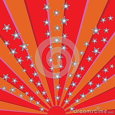 Star sparkling sun
