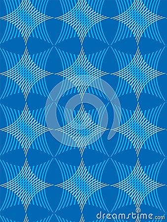 Star and Stripe Pattern Blu
