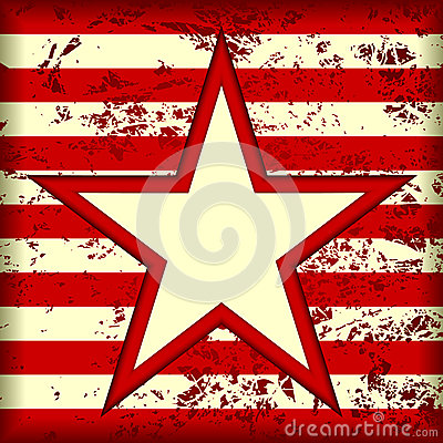 Star on a striped background