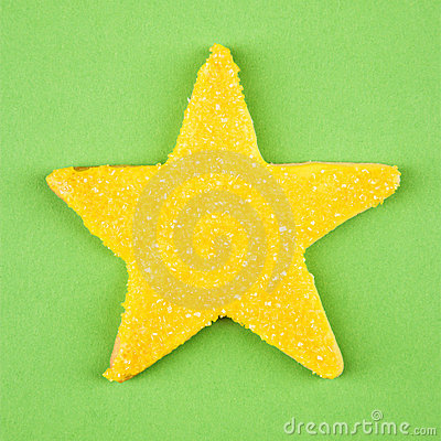 Star sugar cookie.