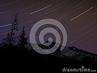 Star Trails over the Alaska Range