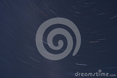 Star trails space