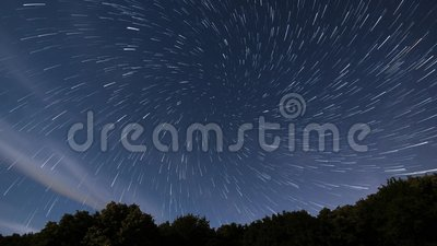 Star Trails vortex time lapse. Beautiful night sky. Real Time-lapse Stars are stacked creating a spectacular vortex star trail video. Stars forming star trails stock footage