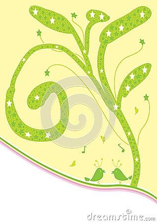 Star Tree With Bird_eps