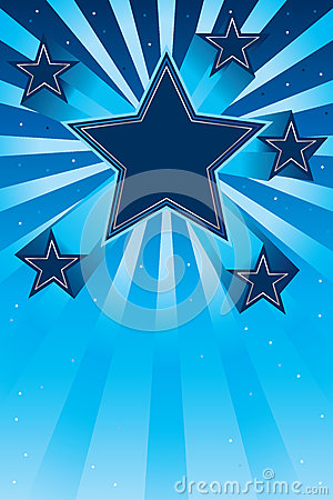 Star up effect card Vector Illustration