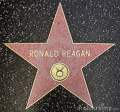 The star of US president Ronald Reagan Editorial Stock Image