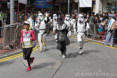 Star War Runner Editorial Stock Photo