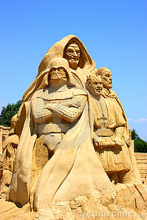 Star Wars - sand sculpture Editorial Stock Photo