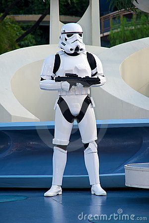 Star Wars soldier at Disneyland Editorial Photography