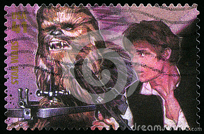 Star Wars US Postage Stamp Editorial Stock Photo