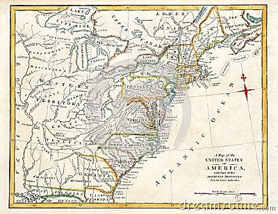 Stara America mapa