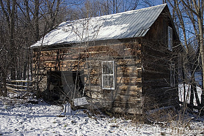 Stara chata drewniana