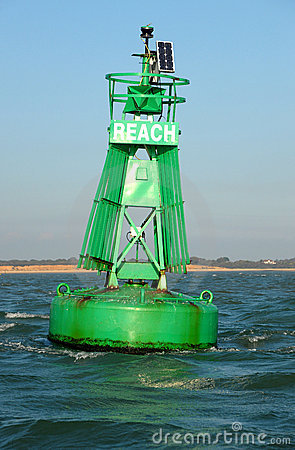 Free Starboard Maritime Buoy. Royalty Free Stock Photos - 21337578