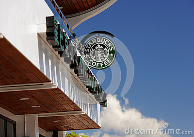 Starbucks Coffee shop in Taiwan Editorial Image