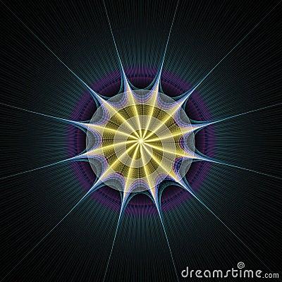 Starburst rays