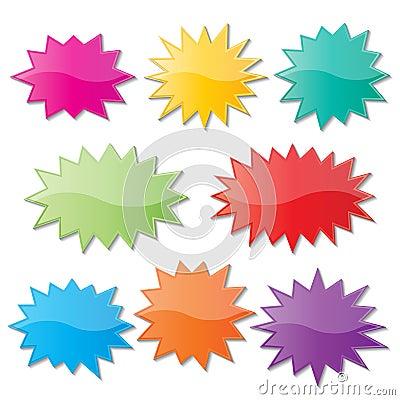 Free Starburst Speech Bubbles Stock Photography - 40939312