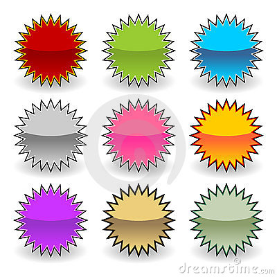 Free Starburst Tags Royalty Free Stock Image - 11768746