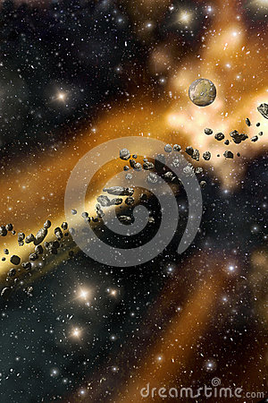 Free Starfield And Asteroids Background Stock Photo - 41389810
