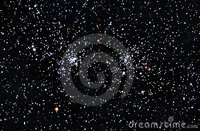 Starfield. A double stars cluster