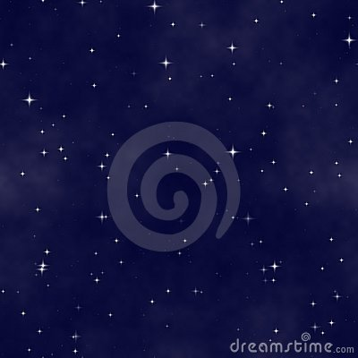 Starfield stars in night sky