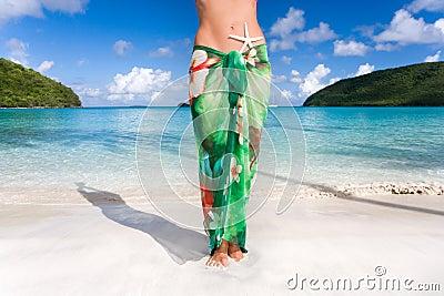 Starfish sarong tropical beach