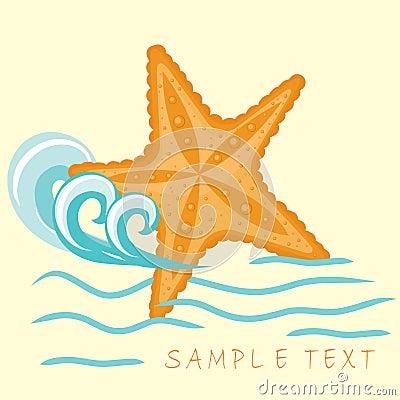 Free Starfish. Summer Card. Stock Photos - 15969833