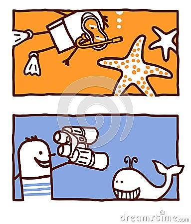 Starfish & whale