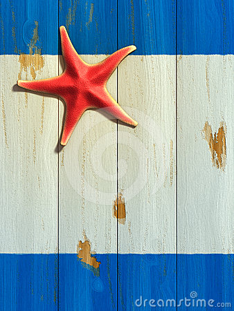 Starfish on wood board