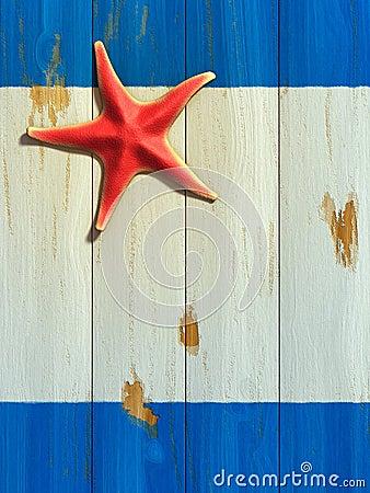 Starfish on wood board