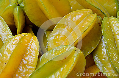 Starfruit in yellow