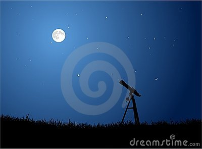 Stargazing with Moon