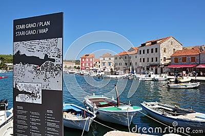 Stari Grad, Hvar, Croatia Editorial Photo