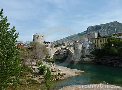 Stari Most in Mostar in Bosnia and Herzegovina