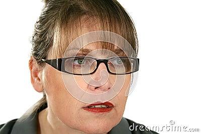 Staring Businesswoman