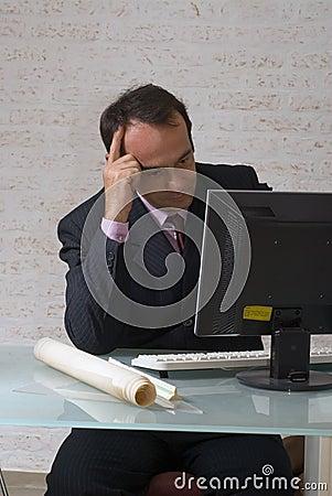 Staring at a Computer