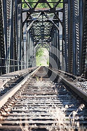 Staring down railroad tracks
