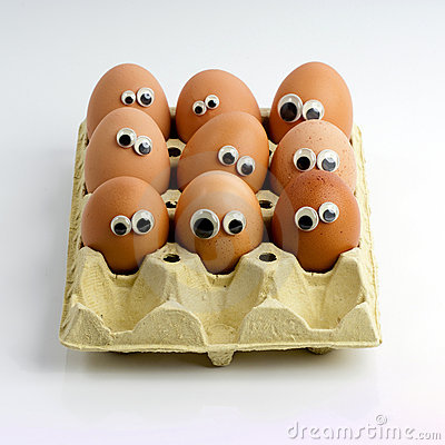 Staring eggs in a box