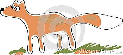 Staring fox