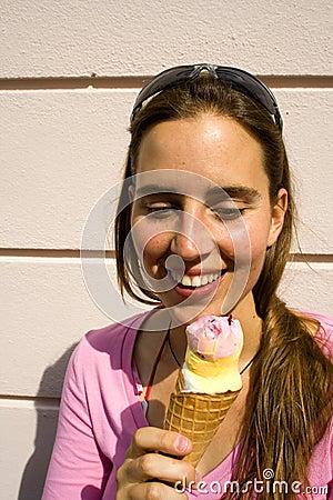 Staring at ice cream