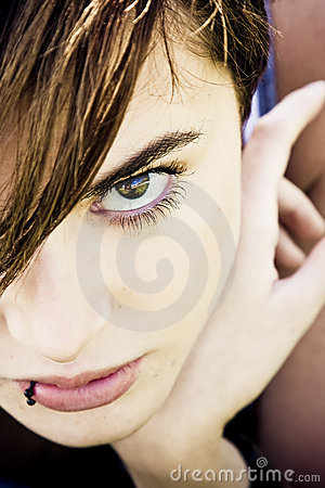 Staring woman