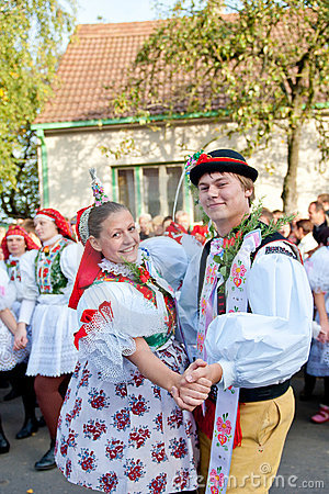 Starka dance in folk costume Editorial Photography