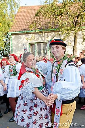 Starka dance in folk costume Editorial Photography