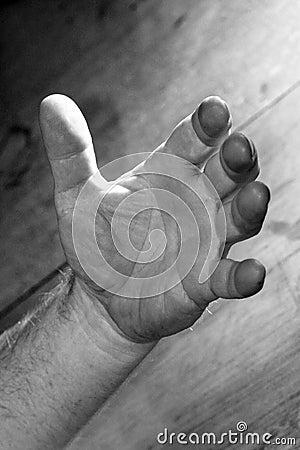 Starke geöffnete Hand