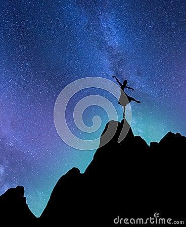 Free Starlight Ballerina Stock Photo - 97383170