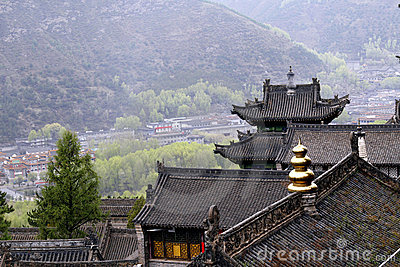 Starożytne małe świątynie miasto