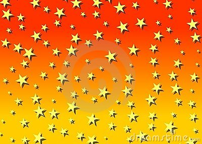 Starry backdrop in orange