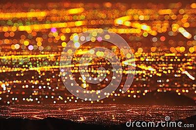 Starry City Night Scene